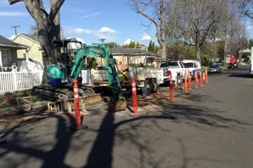 We were able to replace only a small section of the residential sewer line - saving the homeowner thousands of dollars.
